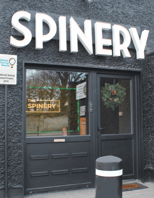 The Door Of the spinery natural latex showroom in Dun Laoghaire, Dublin Ireland